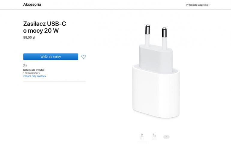 20 W zasilacz USB Typu C
