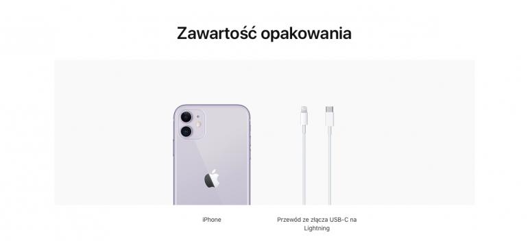 Nowy zestaw sprzedażowy iPhone 11
