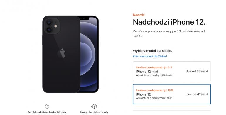 Przedsprzedaż iPhone 12