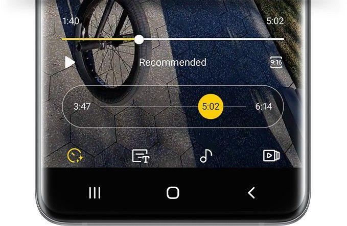 Aplikacja aparatu w S20 Ultra