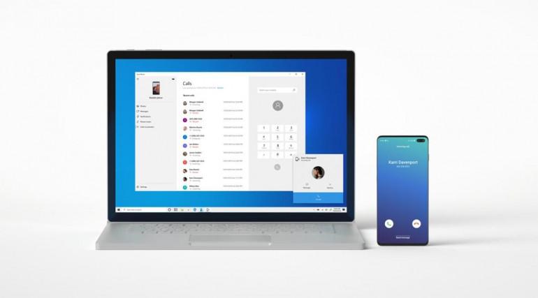 Windows 10 i Android połączone poprzez aplikacje Twój Telefon