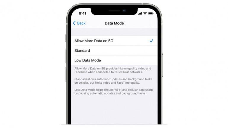 Nowe ustawienia sieci komórkowej w iPhone 12