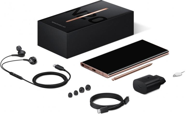 Zestaw sprzedażowy Samsunga Galaxy Note20 Ultra 5G