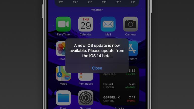 iOS powiadomienie o aktualizacji Źródło: 9to5mac.com