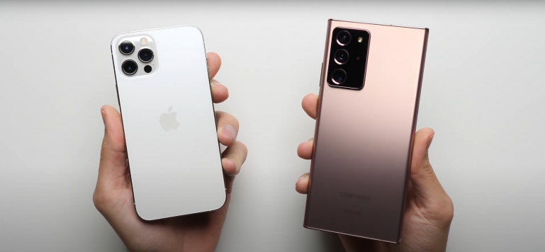 iPhone 12 Pro vs Samsung Galaxy Note 20 Ultra