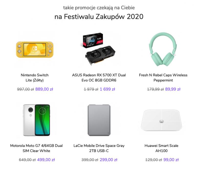 Produkty, które znajdą się w Festiwalu Zakupów
