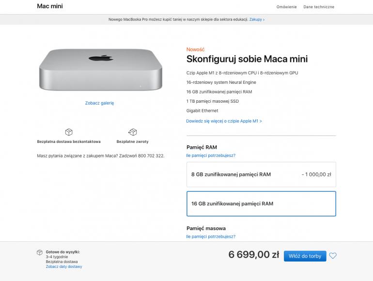 Mac mini w wersji CTO