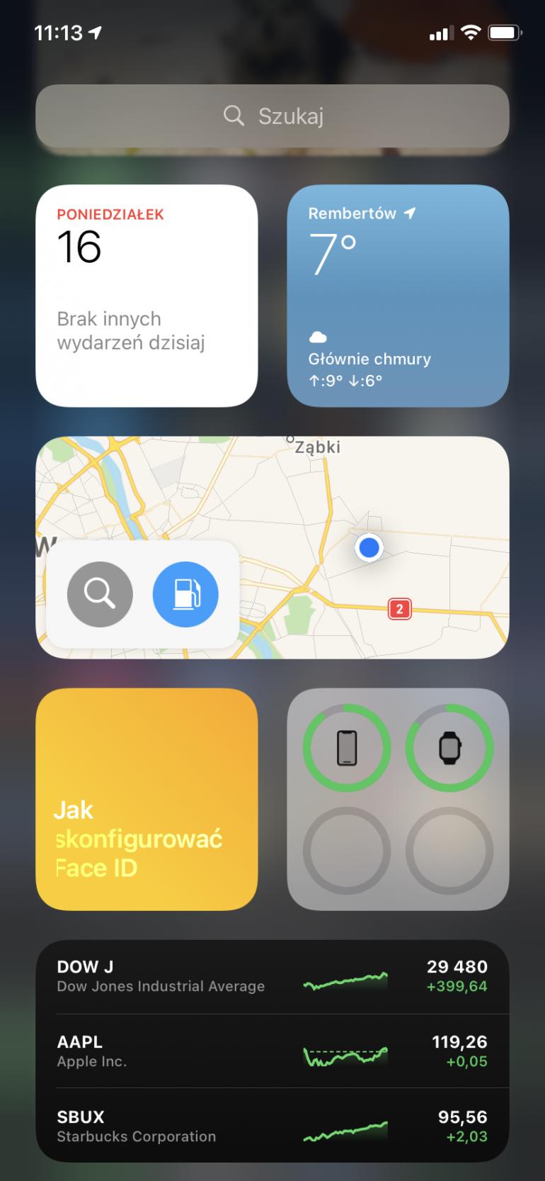 Centrum powiadomień w iOS