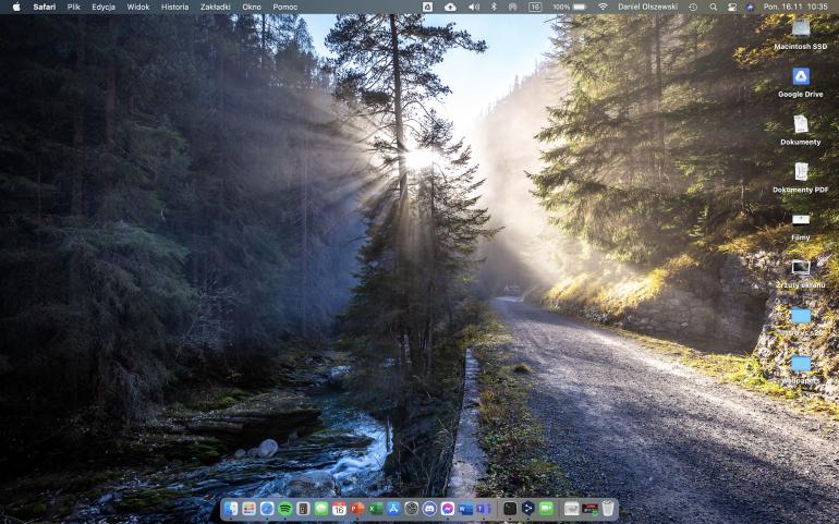Ekran domowy macOS Big Sur