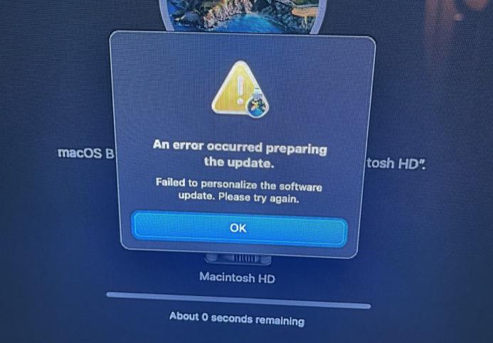 Problem z przywracaniem macOS Big Sur