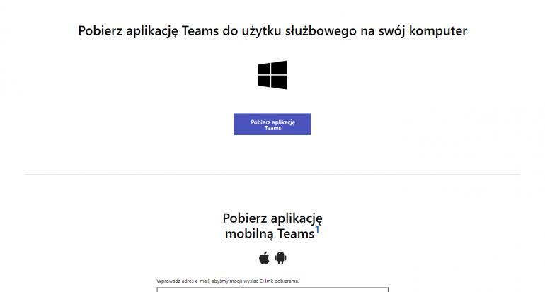Pobieranie aplikacji Microsoft Teams na komputer