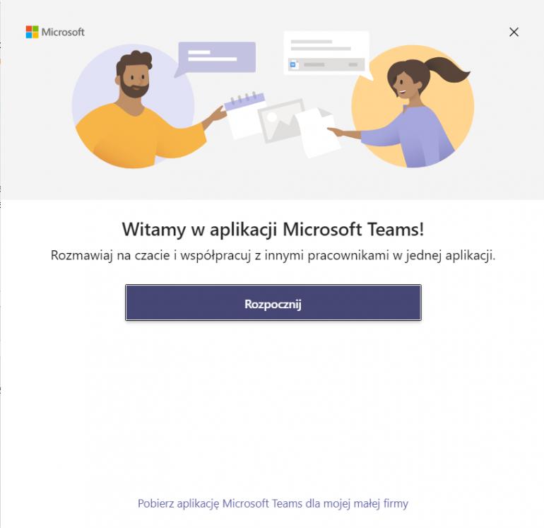Logowanie do aplikacji Microsoft Teams na komputerze