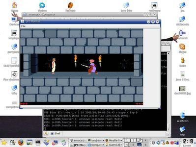 DOS'owa gra Prince of Persia uruchomina w JPC pod Linuksem
