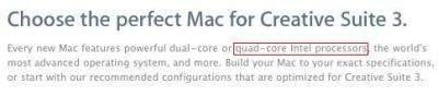 Informacja na stronie Apple