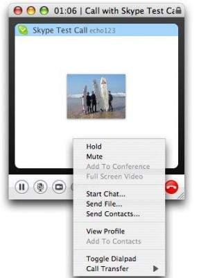 Funkcja Call Transfer w programie Skype 2.6