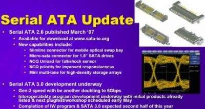 Nowości interfejsu SATA 2.6 i 3.0