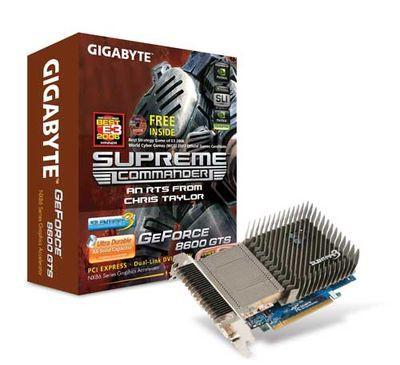 Cichutke GeForce'y 8500 i 8600 z logo Gigabyte