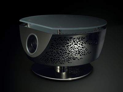 """TSUKI"" Table with Built - in Projector"