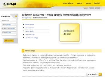 Dzięki nowej usłudze pkt.pl może za darmo nawiązać połączenie telefoniczne z wybranymi firmami.