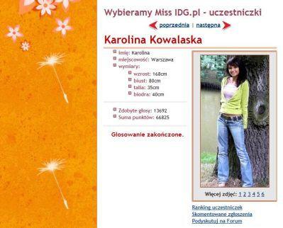 Miss IDG, czyli Karolina z Warszawy