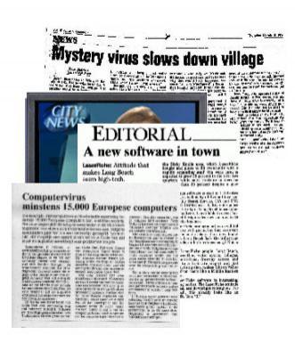 Histeria prasowa związana z wirusem Michał Anioł