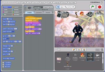 Scratch - główne okno programu