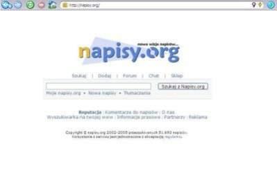 Tak jeszcze do niedawna wyglądała strona www.napisy.org