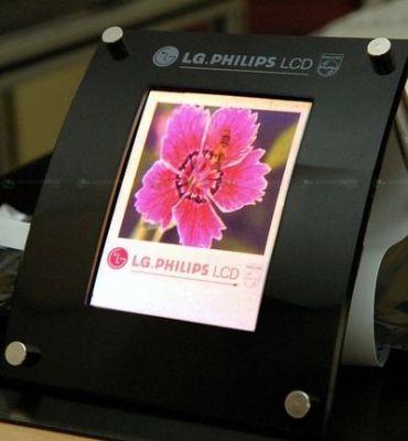 Giętki AMOLED LG.Philips LCD