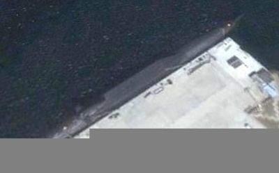Nowy chiński atomowy okręt podwony - zdjęcie z GoogleEarth