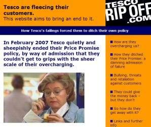 Tesco-rip-off walczy z nieuczciwą polityką cenową