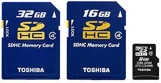 Nowe karty SDHC Toshiby