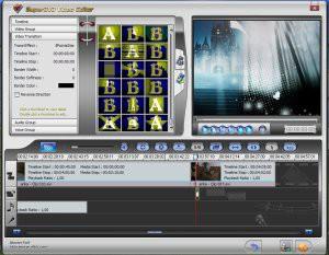 Do ścieżek wideo można dodać efekty specjalne rozdzielające poszczególne klipy projektu.