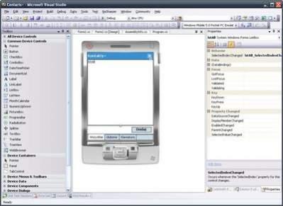 Projektowanie głównej formy w Visual Studio to głównie operacje myszą
