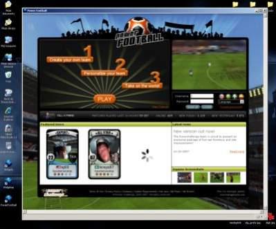 Aplikacja webowa PowerFootball działająca lokalnie dzięki Prism