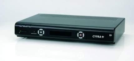 Odbiornik HDTV Cyfry  wyposażony w dysk twardy o pojemności 250 GB
