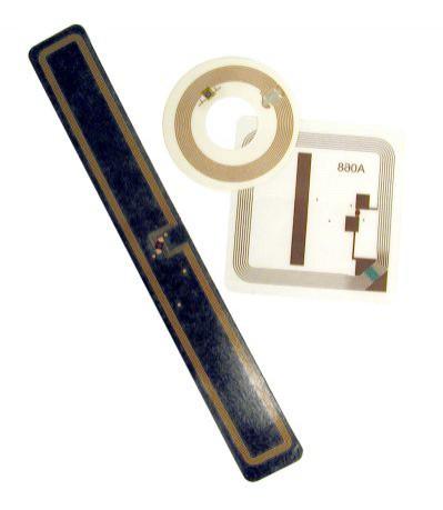 Metki RFID używane w bibliotekach (źródło: Wikipedia)