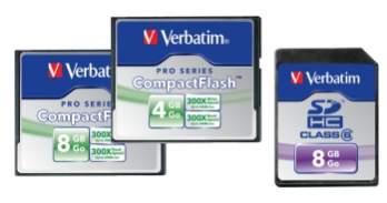 Nowe karty Verbatim z linii PRO Series i SDHC