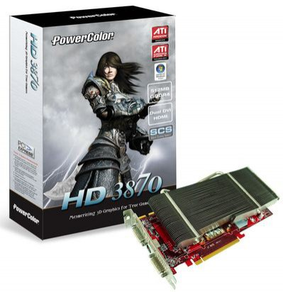 Cichy Radeon PowerColor HD 3870