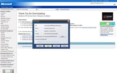 Windows XP SP3 - do pobrania ze strony MS