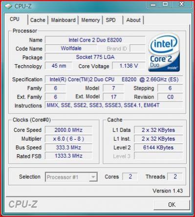 Core 2 Duo E8200 to doskonały procesor do gier i pracy. Wyposażony w 6 MB pamięci podręcznej L2.
