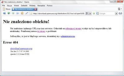 OpenSUSE - była awaria, ciągle jest problem z plikami