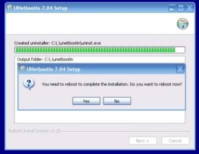 Instalacja UNetbootin w Windows (źródło: lubi.sourceforge.net)