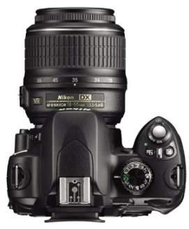 Nikon D60 - widok z góry