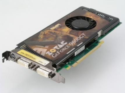 Karta graficzna ZOTAC wyposażona w procesor GeForce 9600 GT. Wersja AMP! Edition, która pracuje z wyższymi częstotliwościami taktowania niż zalecenia NVIDII