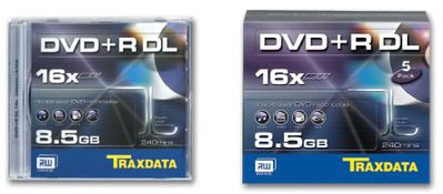 8,5 GB płyty Traxdata z zapisem 16x