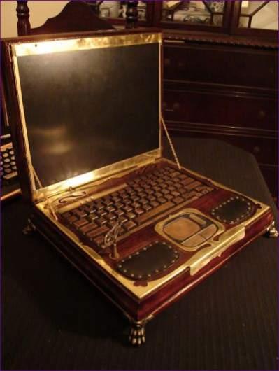 Steampunk Victorian Laptop