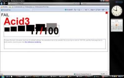 Internet Explorer 8 beta 1 (Windows Vista)