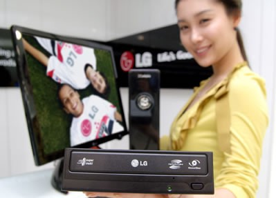 LG wypala DVD z prędkością 22x