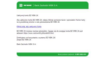 Uwaga na fałszywe e-maile z Banku Zachodniego