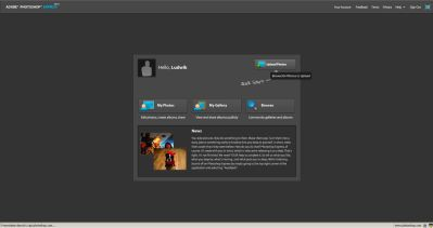 Photoshop Express - ekran startowy